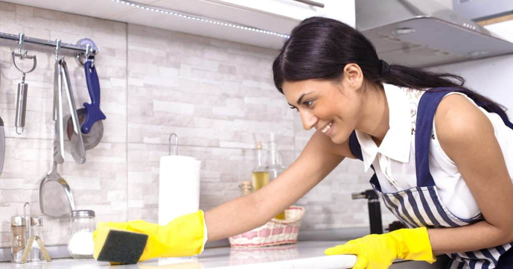 Eh Maids House Cleaning Service Toronto Happy Cleaner Yellow Gloves